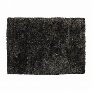 spider tapis anthracite tissu habitat With tapis noué main