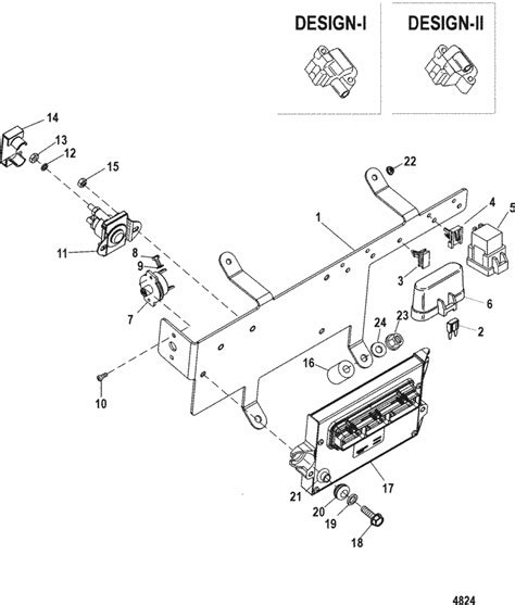 mercruiser  inboard base pcm bracket parts