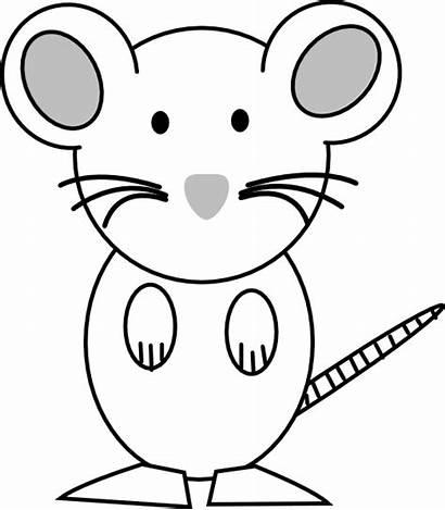 Mouse Clipart Coloring Clip Outline Rat Vector