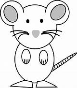 Mouse Coloring Clipart Clip Outline Rat Cliparts Cartoon Vector Pink Lab Computer Clker Library sketch template