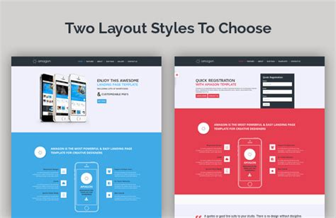 landing page template amagon flat bootstrap landing page template by mannatstudio themeforest