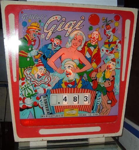gottlieb gigi pinball gottlieb  machine collector buying