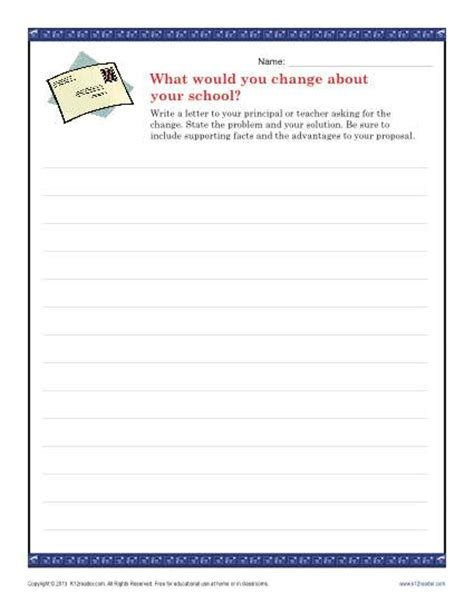 school change letter persuasive writing prompt