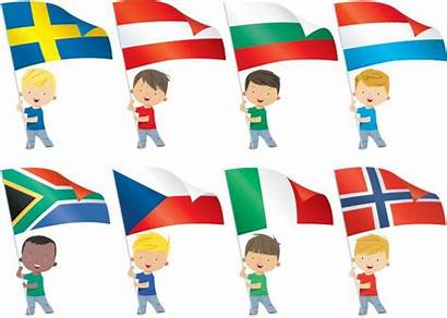 Flags Children Flag South African Vector Africa