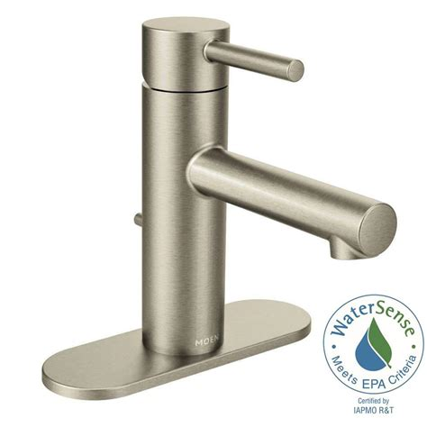 moen align single hole 1 handle bathroom faucet in brushed