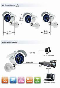 4ch H 264 D1 Security Dvr  U0026 4 Cmos 480tvl 65ft Night