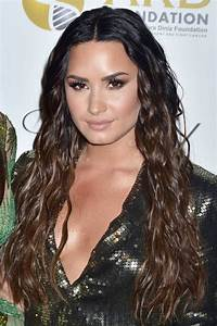 Demi Lovato Wavy Dark Brown Pin Curls Hairstyle | Steal ...
