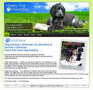 our work ck creative With dog boarding website
