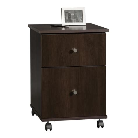 Sauder 2 Drawer File Cabinet by Sauder Cinnamon Cherry 2 Drawer File Cabinet At Lowes