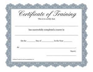 Free Printable Training Certificate Templates