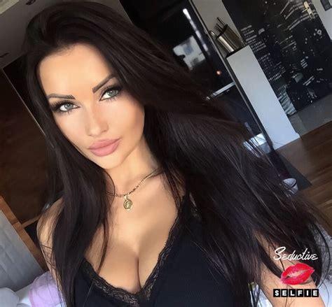 Everypost Dark Hair Makeup Brunette Beauty Long Dark Hair