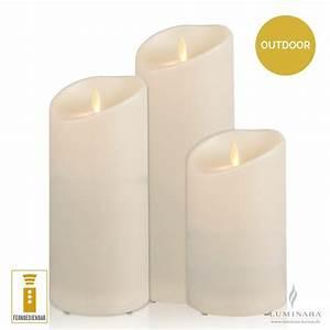 Led Kerzen Mit Timerfunktion : luminara led kerzen outdoor 3er set elfenbein fernbedienbar kaufen ~ Yasmunasinghe.com Haus und Dekorationen