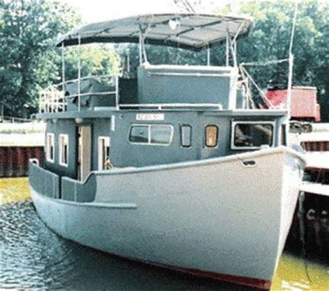 Free Used Boat History Report by 2004 Custom Trawler Hull Houseboat Power Boat For Sale