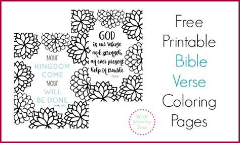 printable bible verse coloring pages pretty flower design  mommy