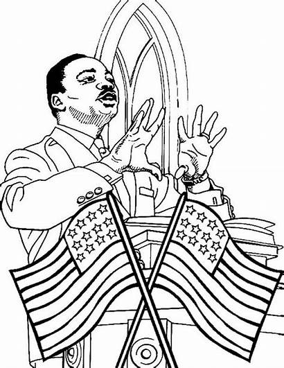 Luther Martin King Coloring Jr Speech Pages