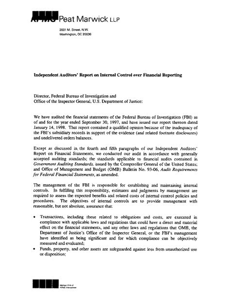 audit report audit reports 98 17 independent auditors reports