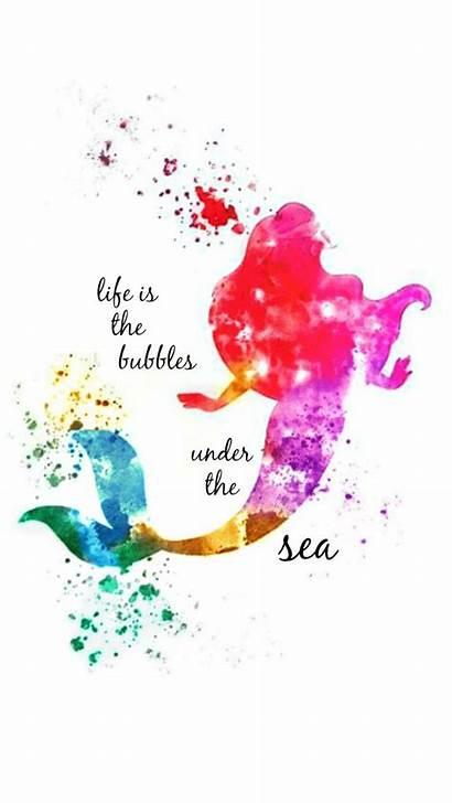 Mermaid Disney Quotes Ariel Iphone Colorful Princess