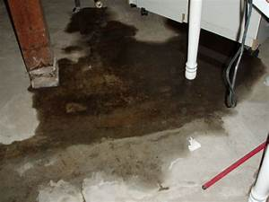 Basement floor crack repair repairing leaking cracks in for Water coming up from basement floor