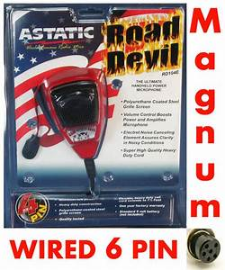 Astatic Rd104e Noise Canceling Microphone Wired For 6