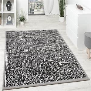 Teppich Grau Modern : designer teppich kurzflor klassische ornamente mosaik stein optik grau silber wohn und ~ Whattoseeinmadrid.com Haus und Dekorationen