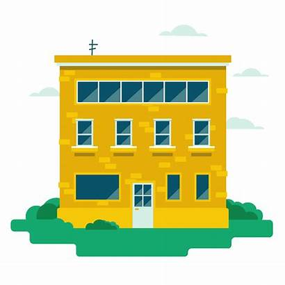Animated Buildings Behance Project