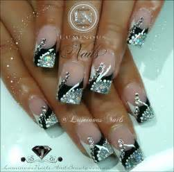 White silver art gold black nails nail fun