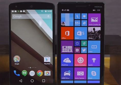 windows phone vs android android l vs 4 4 windows phone 8 1 and ios 8