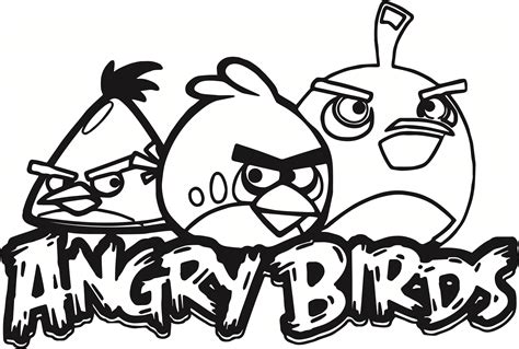 30 Angry Birds Coloring Pages