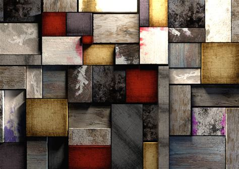 colorful grunge textured wooden blocks background texture
