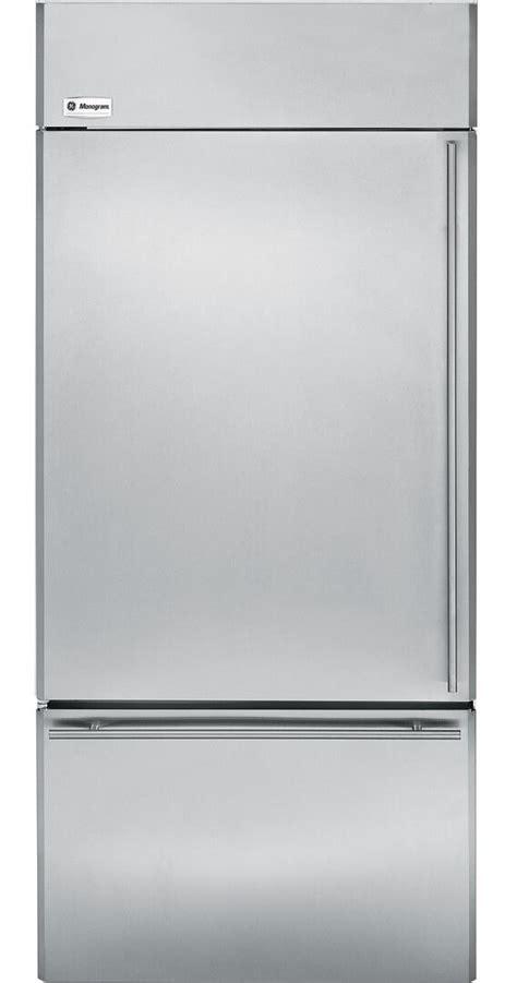 ge monogram zicsnxrh   monogram series counter depth bottom freezer refrigerator