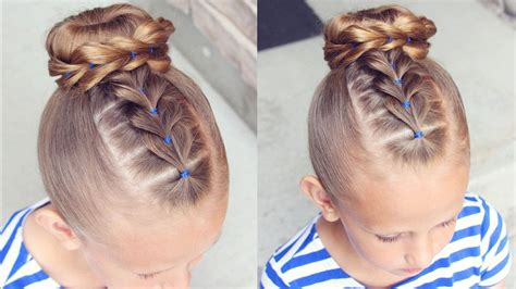 pull  bun hairstyle  girl