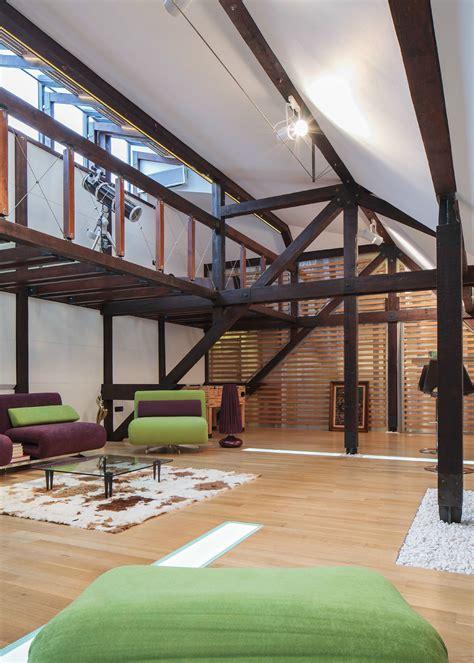 wood structure defines contemporary renovated attic loft apartment  bucharest idesignarch interior design architecture interior