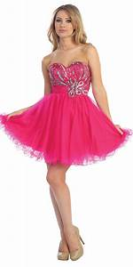 short sparkly pink prom dress