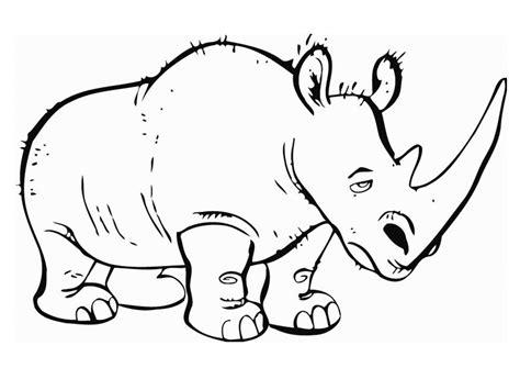 dibujo  colorear rinoceronte img