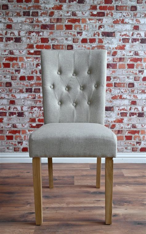 chesterfield dining chair  stone upholstery button