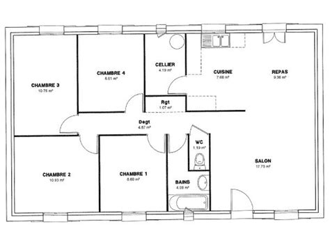 plan maison 4 chambres 騁age maison de plain pied 28 images maison de cagne de plain pied de construction r 233 cente best 20 plan maison 3 chambres ideas on plans plans
