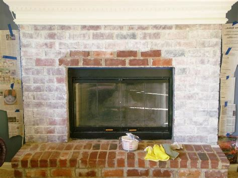 shabby chic brick fireplace photos of homes with white washing brick