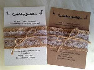 burlap and lace wedding invitations wedding invites With wedding invitations belly band uk
