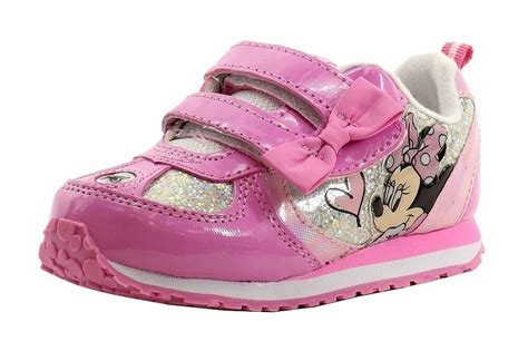 disney minnie mouse s light up sneakers shoes toddler sizes 7 12 ebay