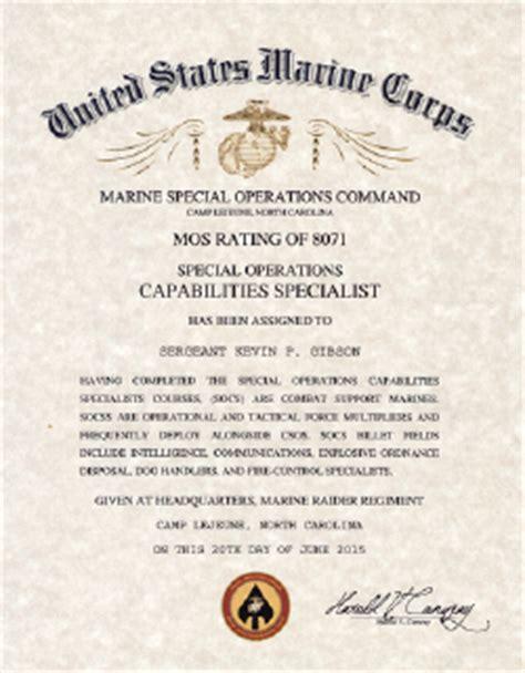 usmc mos  special operations capabilities specialist