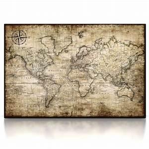 Weltkarte Bild Holz : weltkarte auf leinwand weltkarte auf leinwand xxl im ~ Lateststills.com Haus und Dekorationen