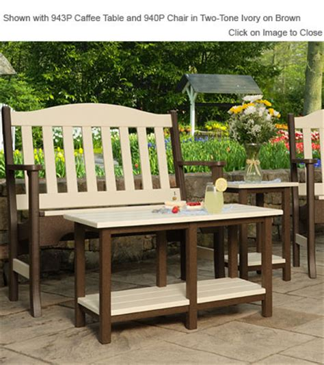 finch poly furniture avonlea garden bench outdoor poly