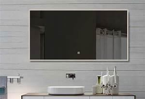 Spiegel Mit Weißem Rahmen : lux aqua badzimmerspiegel led mit beleuchtung touch schalter 140x60cm sam140x60 ~ Indierocktalk.com Haus und Dekorationen