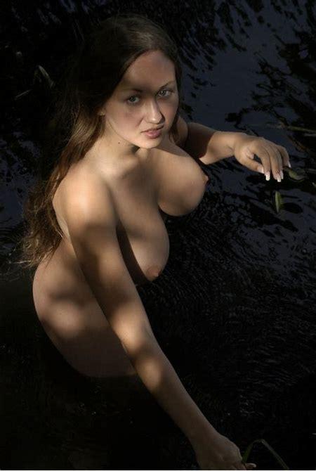 Teen with really big boobs posing naked at river | Russian Sexy Girls | 7sar.ru