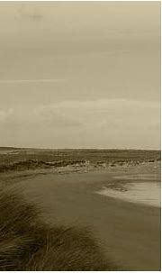 Tullagh Strand Reflections Bw Photograph by Eddie Barron