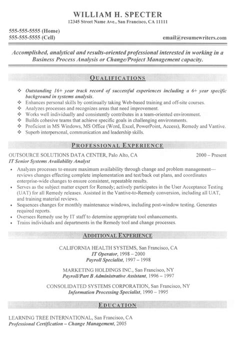 systems analyist resume sample  resume examples