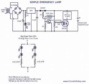 Circuit Wiring  Simple Current Controlled Led Tube Light Circuit Diagram
