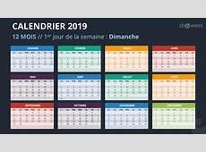 Calendrier 2019 pour PowerPoint Français