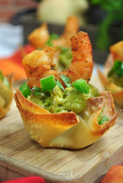 shrimp avocado wonton appetizer recipe teodoro