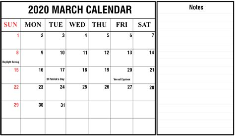 march calendar printable templates excel word